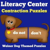 Contractions | 1st 2nd Grade | Literacy Center | Puzzles