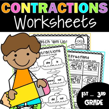 Contractions Contraction Worksheets By Teaching Second Grade Tpt