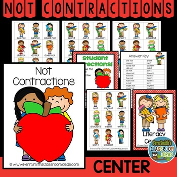 Not Contractions A Quick and Easy to Prep Center Game