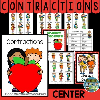 Contractions A Quick and Easy to Prep Center Game