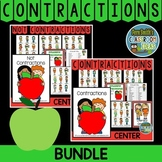 Contractions Center Game A Quick and Easy to Prep Bundle