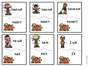 Literacy Center - Literacy Activity - Contractions