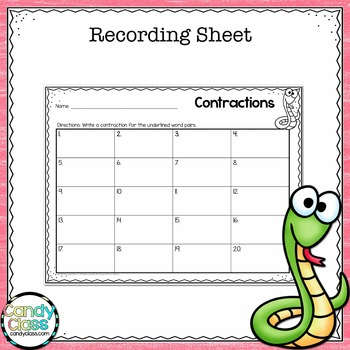 Contraction Task Cards (Using Apostrophes in Contractions)