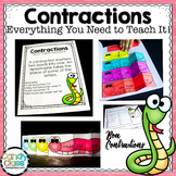 Contractions Bundle- All You Need to Teach It (Lesson, Act