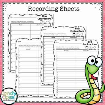 Contraction Activity: 1st and 2nd Grade Grammar Centers for Using Apostrophes