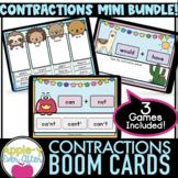 Contractions 3 Game Bundle   Boom Cards    Grammar