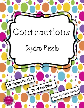 Contractions 10 Square Puzzle Pack {Differentiated}