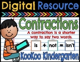 Contractions-A Digital Literacy Center (Compatible with Google Apps)