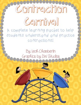 Contractions Carnival - A Complete Contraction Packet