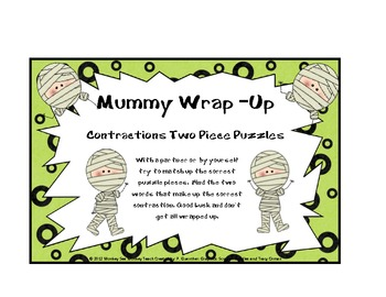 Contractions: All Wrapped Up Mummy/ Halloween