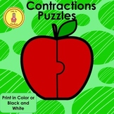 Contractions Apple Puzzles and Worksheets