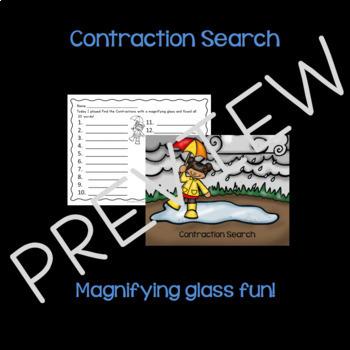 Contractions April Activities & Games