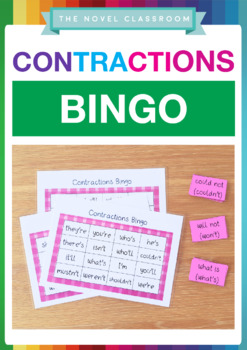Contractions Bingo Literacy Game - Whole Class Set