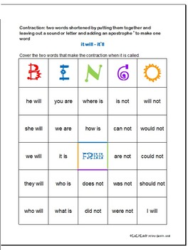 Word Snippers: Contractions Fun & Games