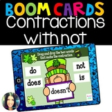 Contractions with not- Boom Cards™ Distance Learning