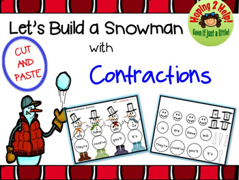 Contractions - Build a Contraction Snowman