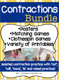 Contractions Bundle - Isolated and Mixed Contraction Print