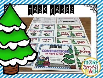 Contractions Bundle {Task Cards & Sort It Activities}