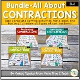 Contractions Bundle: Task Cards & Sorting Activities