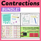 Contractions Bundle - Worksheets, Power Point, Task Cards & More