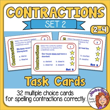Contractions Cards for Spelling Contractions (Set 2)