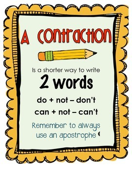 Contractions - Center Activities
