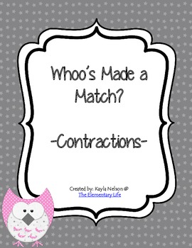 Contractions Center Owl Themed