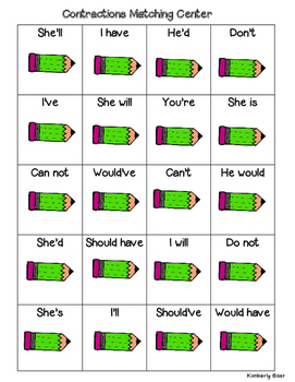 Contractions Center and Recording Sheet