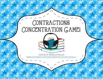 Contractions Concentration Game! - Literary Center Game