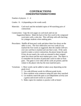 Contractions Concentration/Matching