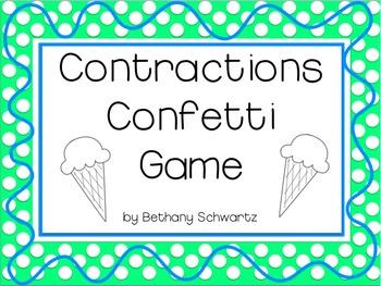 Contractions Confetti Game