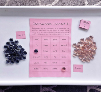 Contractions Connect 4 - Spelling Game