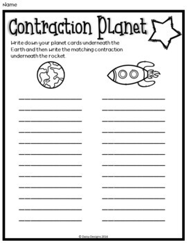 Contractions - Contraction Planet - DOLLAR DEAL