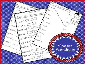 Contractions Song & Literacy Activities