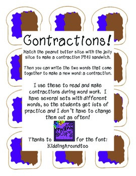 Contractions, Contractions & more Contractions!