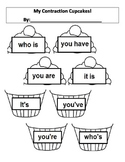 Contractions- Cupcake cut/paste