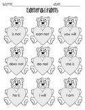 Contractions Cut and Paste Bears