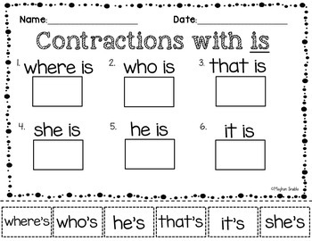 Contractions Cut and Paste Pack