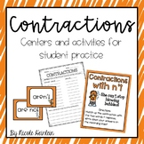 Contractions Activities and Worksheets