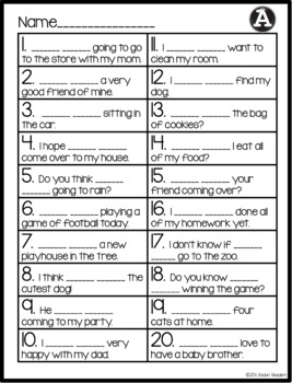 Contractions Differentiated Read the Room