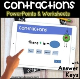 Contractions Digital & Print ⭐ Anchor Chart, Worksheets, P