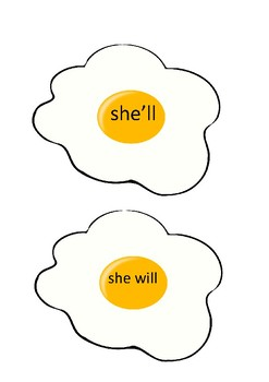 Contractions Egg Flip Game