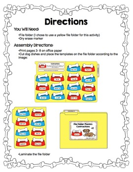 Contractions- File Folder Phonics #2