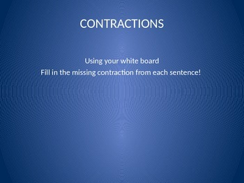 Contractions- Fill in the Sentence