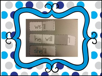 Contractions Foldables  Stations or Independent Seat Work