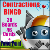 Contractions Game - BINGO - Contracted Form for Caller - Expanded for Players