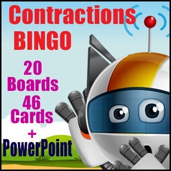 Contractions Game - BINGO - Contracted Form for Caller - E