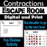 Contractions: Grammar Escape Room - ELA