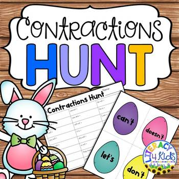 Contractions Hunt for Grades 2 and 3