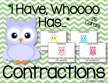 Contractions I Have, Who Has...